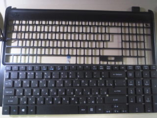 Замена клавиатуры без фрейма в ноутбуке ACER